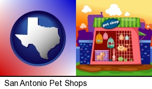 a pet shop in San Antonio, TX