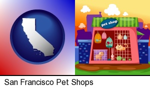 a pet shop in San Francisco, CA