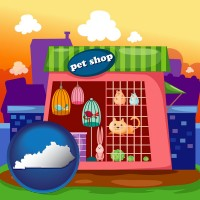 kentucky map icon and a pet shop