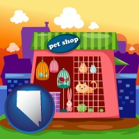 nevada map icon and a pet shop