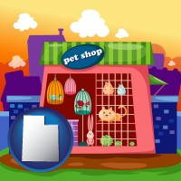 utah map icon and a pet shop