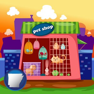 a pet shop - with Arkansas icon