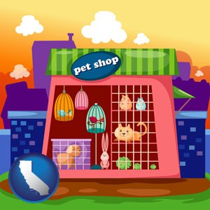 a pet shop - with California icon