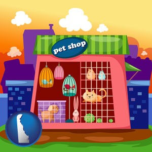 a pet shop - with Delaware icon