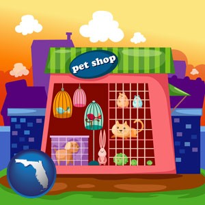 a pet shop - with Florida icon