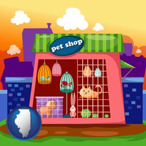 a pet shop - with Illinois icon