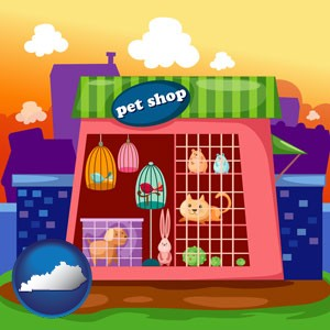 a pet shop - with Kentucky icon