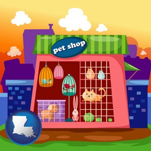 a pet shop - with Louisiana icon