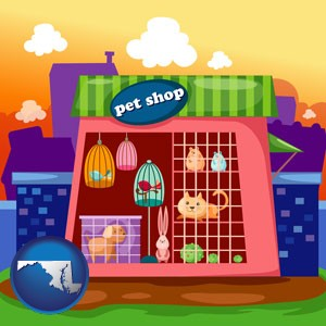 a pet shop - with Maryland icon