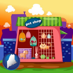 a pet shop - with Maine icon