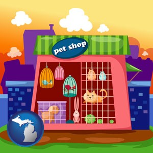a pet shop - with Michigan icon