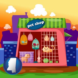 a pet shop - with Mississippi icon