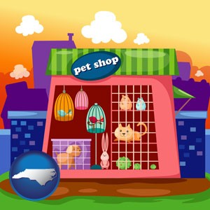 a pet shop - with North Carolina icon