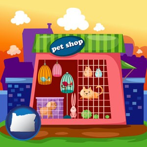 a pet shop - with Oregon icon