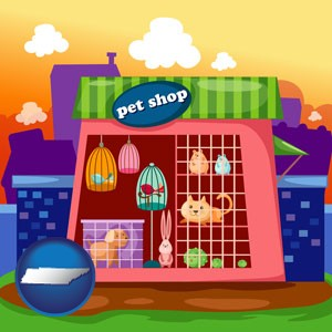 a pet shop - with Tennessee icon