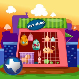 a pet shop - with Texas icon