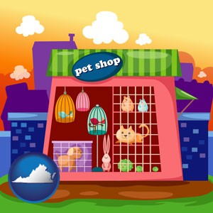 a pet shop - with Virginia icon