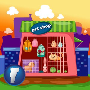 a pet shop - with Vermont icon