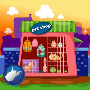 a pet shop - with West Virginia icon
