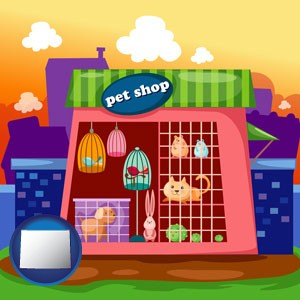 a pet shop - with Wyoming icon